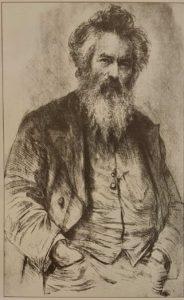 Шишкин. Автопортрет. 1886. Гравюра