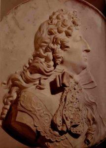 Пюже. Людовик XIV. Медальон. Мрамор. Размер 66 см. Музей изобразительных искусств. Марсель