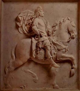 Пюже. Людовик XIV на коне. Мрамор. 96х87 см. Музей изобразительных искусств. Марсель
