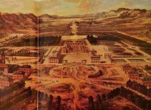 А вот, как выглядел Версаль в начале его перестройки. Все очень просто