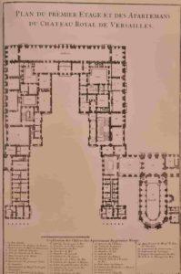 План первого этажа королевского замка в Версале