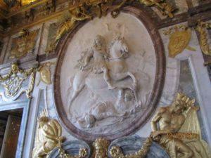 Барельеф Куазевокса в Зале войны. 2011 г. Версаль. Фото автора 2