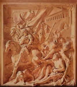 Пюже. Александр и Диоген. 1670-1689. Мрамор. 332х296 см. Лувр. Париж