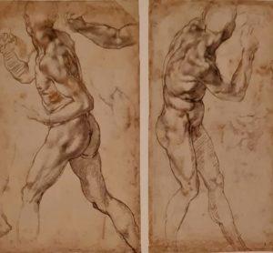 Микеланджело. Этюд для неоконченного картона «Битва при Кашине». 1504–1505. Британский музей