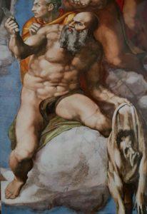 Микеланджело. Торс держащего кожу с лицом Микеланджело. Фреска «Страшный Суд»