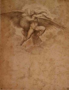 Микеланджело. Орел, похищающий Ганимеда