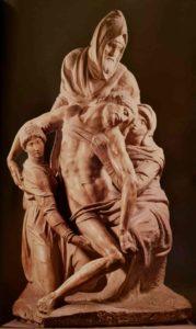 Микеланджело. Пьета. Около 1550–1555. Флоренция. Центральный собор Флоренции Санта Мариа дель Фьоре
