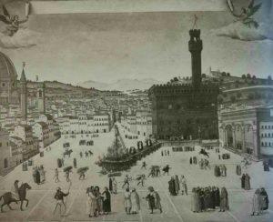Наказание Савонароллы в 1498 на площади Синьории во Флоренции. Неизвестный флорентийский художник. Музей Сан Марко. Флоренция