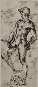 Микеланджело. Давид. Рисунок из Лувра