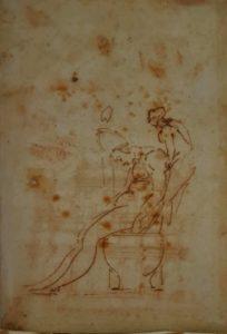 Этюд для фигуры папы Юлия II и ангела. 1516–1517. Папа уже умер, а его гробница стала на много десятилетий головной болью скульптора, думается, что и поднять такого папу в небеса - тоже дело нелегкое