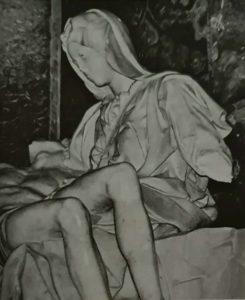 Пьета после нападения психопата. 1972
