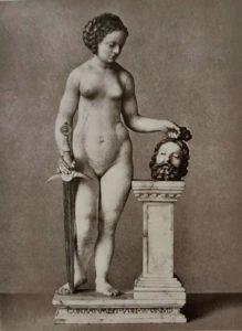 Конрад Мейт. Юдифь с головой Олоферна. 1508. Крашеный алебастр
