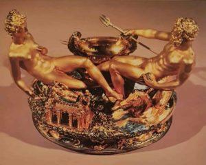 Челлини. Солонка для Франциска I. 1543. Музей истории искусств. Вена