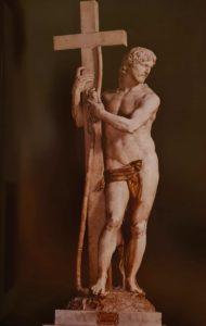 Микеланджело. Воскресший Христос. 1519–1521 гг. Высота 205 см. Санта-Мария-сопра-Минерва. Рим