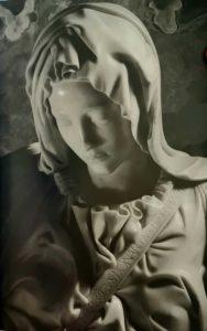 Пьета. Автограф Микеланджело на поясе Богородицы