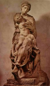 Микеланджело. Мадонна с Младенцем. (Мадонна Медичи). 1521–1534. Капелла Медичи. Флоренция