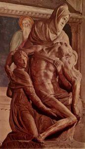 Микеланджело. Пьета. 1550–1555. Собор Санта-Мария-дель-Фьоре. Флоренция