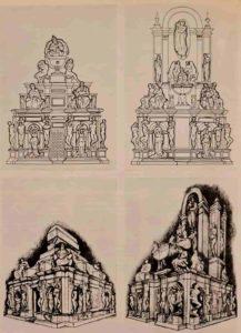 Первоначальные варианты гробницы Юлия II. Папа весьма часто изображался в тиаре, что просто и ясно указывает на папский статус умершего без неоплатонических фантазий